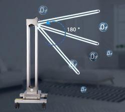 La luce UV dello sterilizzatore UV UV ultravioletto della lampada con la lampada germicida del prodotto disinfettante dell'ozono con la disinfezione perfetta del tubo del quarzo 254nm con 1 gira il braccio con il sensore di movimento