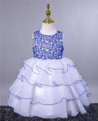 4중 프린세스 이브닝 드레스 반팔 걸 드레스