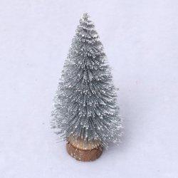 Mini Árvore de Natal Árvore de Natal Artificiais de prata para Decoração de Natal