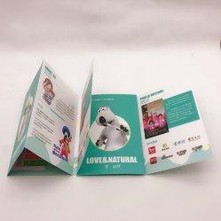 2000PCS geben Verschiffen-kundenspezifisches gedruckter Katalog-Blättchen-Broschüren-Benutzerhandbuch-Drucken gefaltetes Broschüre-Plakat-Flugschrift-Drucken frei