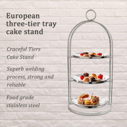 Accessoires de cuisine Moule à gâteau en acier inoxydable 304 Cake Stand Boîte à gâteau
