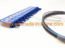 La fibra óptica monomodo 12 núcleos de convergencia de salida de cinta de fibra óptica de 250um Coleta