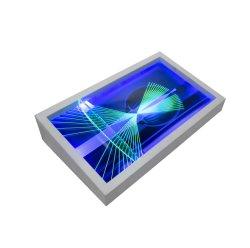 Base cónico transparente acrílico nuevo teléfono móvil de tarjeta de memoria Soporte de pantalla LED se ilumina el paisajismo producto muestran caso