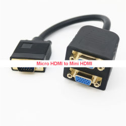 VGA 1~2개의 케이블 VGA 디스플레이 1~2개 3 + 9 금 도금