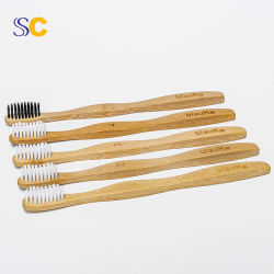 OEM de Welkome In het groot Natuurlijke Tandenborstel van het Bamboe Eco voor Reis