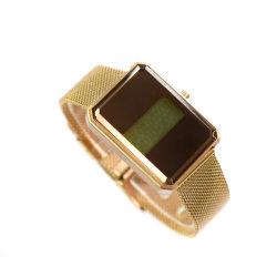 Reloj de cristal líquido de la correa de Acero Inoxidable Relojes de Pulsera (cm19048)