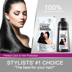 Coloração Dropshipping almejam Magic 5 Minutos Fast 3 em 1 Cobrir cabelo grisalho Shampoo de corante preto em garrafa