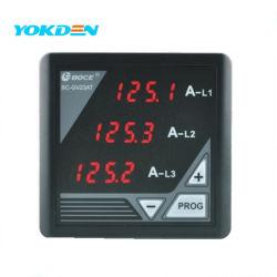 L1/L2/L3 مقياس لوحة Genset الرقمية للتيار المتردد Gv23at Ammeter Gv23at