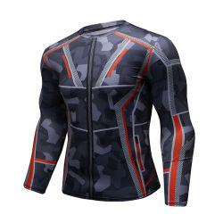 Fabricante de vestuário de desporto a sublimação Jiu Jitsu Ginásio Rashguard Shirts Homens