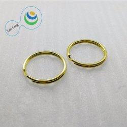 21.5ID mm Fer Métal personnalisée de l'or ronde anneau de chaîne de clé fractionnée