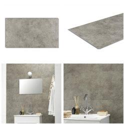 싼 공장 가격 PVC Spc Gray Vinyl Click Plank 바닥 방수 욕실 벽 타일 디자인