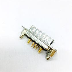 Pilier du port série rivetée D-Sub 7W2 du connecteur de courant élevé avec montage droit