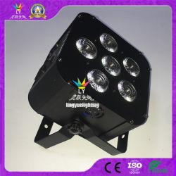 6pcs Rgbwap 6en1 Batterie sans fil DMX512 PAR, vous pouvez LED