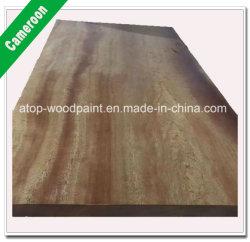 Zubehörcameroon-quadratische Protokoll-und Anzeigen-Bauholz-Stärke von 4cm für Möbel-Tür-Bodenbelag