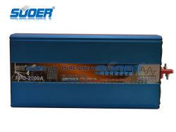 Suoer gelijkstroom 12V aan AC 220V 2500W de Zonne Zuivere Omschakelaar van de Macht van de Golf van de Sinus Inversor (fpc-2500A)