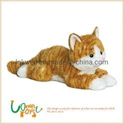 Cute cat animal en peluche jouet en peluche poupée couché