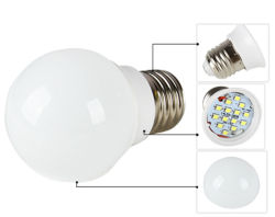 SKD LED haute puissance 9W Lampe mondial A60
