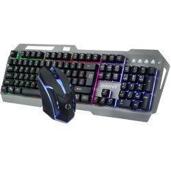 Haut de gamme avec rétroéclairage LED filaire Clavier et souris de jeu costume avec E-sport moteur optique de jeu