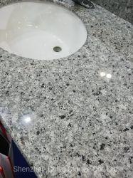연한 회청색 화강암 싱크대 도와 또는 석판 Prefabricated 내각 Worktop 고체 표면