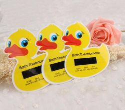 Bebè da bagno personalizzato a forma di cute, termometro ad acqua, adesivo duck Scheda
