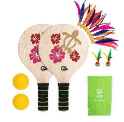 Sports de plein air de l'impression Transfert d'eau Pickleball en bois de palette en bois de palette raquette de tennis de plage
