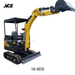 Tc18-9d Fabrication, commerce de gros, Mini-excavatrice chenillée hydraulique