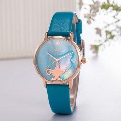 تصميم بسيط اليابان mov't Quartz زنك Alloy ساعة المعصم Wy-125