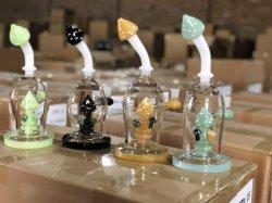 2019 El vidrio de alta calidad científica del tubo de quemadores de aceite Reciclaje de Vidrio el hábito de fumar pipa de agua con tubería de agua Filtro de cristal de Setas
