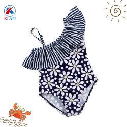 Рисунком один взять на себя из одного куска купальный костюм Детский Ruffle купальный костюм