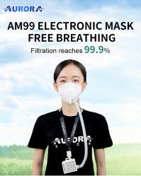 Персональной портативной Smart пылевой фильтр для очистки воздуха Фильтр многократного использования вентилятора электрического маску для лица респиратор для защиты дыхания