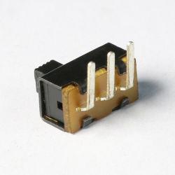 0,5 A 50V Dpdt à angle droit 3 broches de commutateur à glissière horizontale SS12f21 Micro-commutateur de jouets