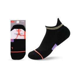 Il marchio su ordinazione accetta calzini delle donne del calzino del cotone dei calzini dei calzini di modo di sostegno di arco dell'ammortizzatore dei calzini del taglio di livello basso della caviglia dei calzini di compressione i brevi