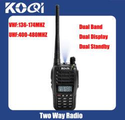 UHF 400-470 MHz VHF 136-174 MHz Dual Band Walkie Talkie