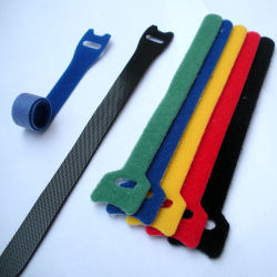 25cmの長さによってカスタマイズされるロゴナイロンPPのホックおよびループ・ケーブルのタイ魔法テープ