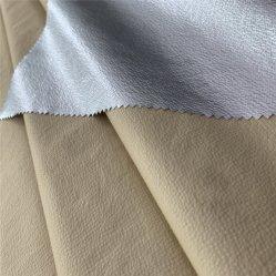 Tessuto in tessuto Down Coat / Crinkle in nylon ultra leggero 20d con Rivestimento PA tessuto di finitura per giacca piumino uomo