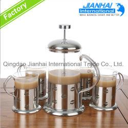 Venta caliente resistentes al calor de la decoración del hogar Tetera de café de cristal
