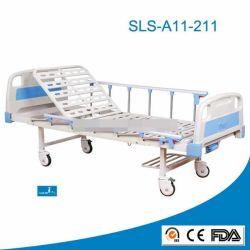 CE ISO 승인 단순 병원 침대 하우스 및 간호 사용 금속 이동식 환자 병원 침대