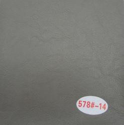 Fissure de couleur grise de l'huile de cuir décoratifs cireux canapé en cuir pour