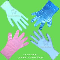 Plastique/polyéthylène/poly/CPE/PEHD/LDPE/PVC/exam/extensible/vétérinaire élastique TPE/chirurgie/médical/de l'examen des gants jetables PE, gants jetables en vinyle