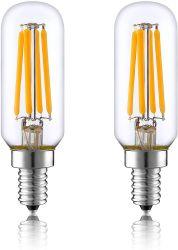 T26 Lâmpada LED tubular, PARAFUSO E14 Base 4W (40 W equivalente) 2700K branco quente a lâmpada de incandescência, Lâmpada do aparelho para o frigorífico, máquina de costura, freezer, fogão o capô