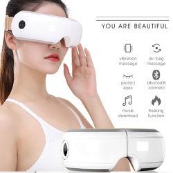 Hezheng Novo Preto de secagem de produtos de cuidados de saúde Olhos Máscara de massagem de calor do Anel de Pressão de Ar Elétrico massajador com Bluetooth