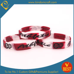 Commerce de gros logo gravé colorés du caoutchouc de silicone Bracelets pour cadeau promotionnel