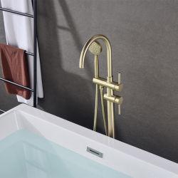 Acero inoxidable de buena calidad de Distribuidor Oro Negro de latón de porcelana sanitaria bañera de patas grifo