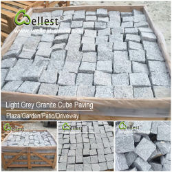 Walkway/Driveway/Parking Pavers/Pavingのための花こう岩かBasalt/Slate/Bluestone Cobblestone Cube Stone