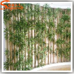 Melhor vender piscina paisagística Bambu Falso Artificial cerca para decoração
