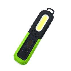 300lumen COB 3W lanterna LED de luz com gancho dobrável