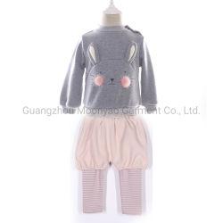Защитный комбинезон хлопок вышивка Sweatshirt полосатый Leggings малыша детский костюм для оптовых