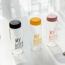 OEM 500ml botella de plástico PET de deportes a prueba de fugas de agua de botella con tapa de polipropileno
