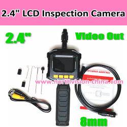 Inspección de la nueva cámara con monitor LCD a color