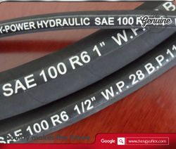 La norme DIN EN 854 1te Hytraulic flexible avec tresse de textiles